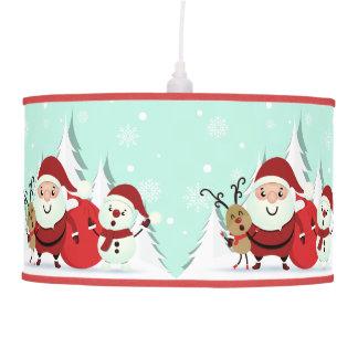 Santa, Reindeer & Snowman lamp