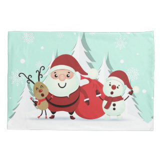 Santa, Reindeer & Snowman pillowcases