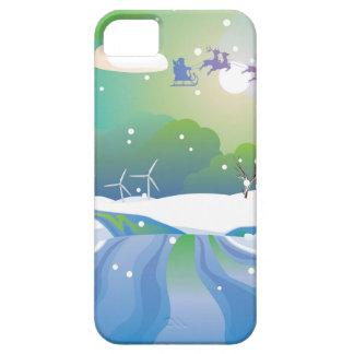 Santa Riding Christmas Sleigh at Night iPhone 5 Covers