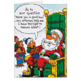 Santa Right To Remain Silent Card