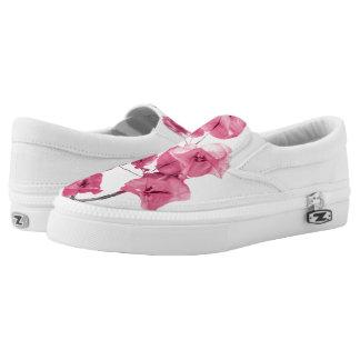 Santa Rita Flowers Photo Slip-On Sneakers