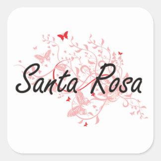 Santa Rosa California City Artistic design with bu Square Sticker