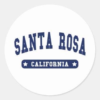 Santa Rosa California College Style tee shirts Classic Round Sticker