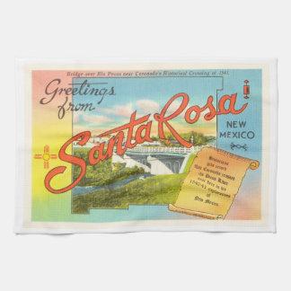 Santa Rosa New Mexico NM Vintage Travel Souvenir Kitchen Towels