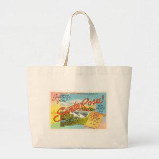 Santa Rosa New Mexico NM Vintage Travel Souvenir Large Tote Bag