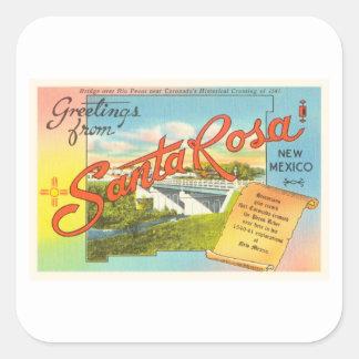Santa Rosa New Mexico NM Vintage Travel Souvenir Square Sticker