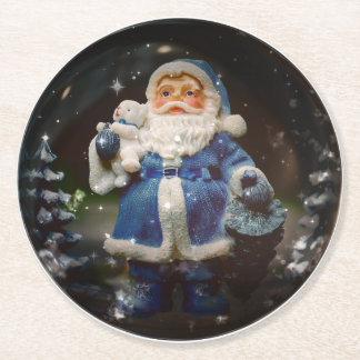 Santa Round Paper Coaster