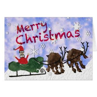 Santa & Rudolph Merry Christmas Card