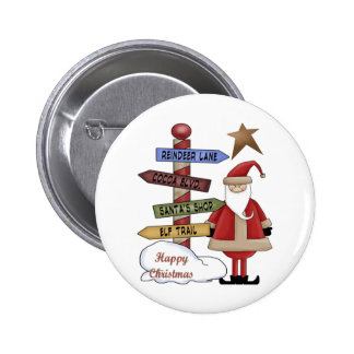 Santa s Pole Buttons