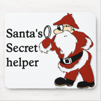 SANTA S SECRET HELPER MOUSE PAD