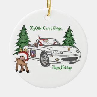 Santa s Sleigh-White Christmas Tree Ornaments