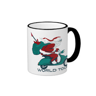 Santa s World Tour Scooter Coffee Mug