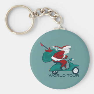 Santa s World Tour Scooter Key Chains