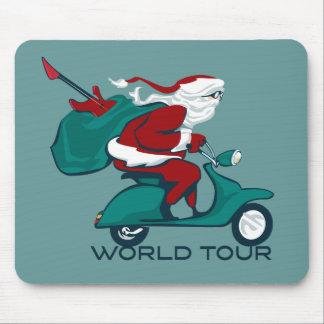 Santa s World Tour Scooter Mouse Mat