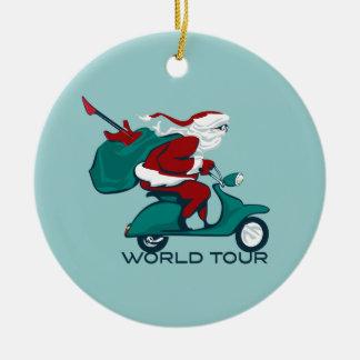 Santa s World Tour Scooter Ornaments