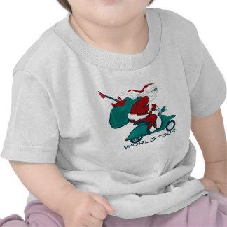 Santa s World Tour Scooter T-shirt