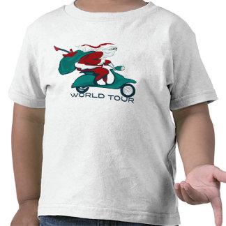 Santa s World Tour Scooter Tshirt