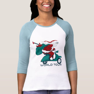 Santa s World Tour Scooter T-shirts