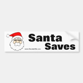 Santa Saves Bumper Bumper Sticker