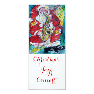 SANTA & SAX,CHRISTMAS JAZZ PARTY CONCERT PROGRAMME CARD