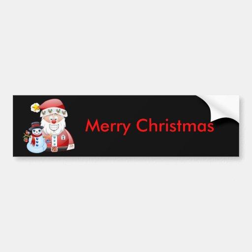 Santa Scene 17 Bumper Stickers