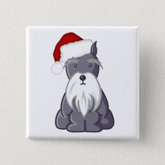 Santa Schnauzer 2 Inch Square Button