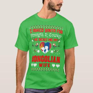 Santa Sent Mongolian Wife Christmas Ugly Sweater