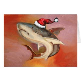 Santa Shark Card