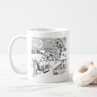 Santa Shock right hand cartoon mug