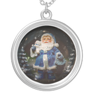 Santa Silver Plated Necklace