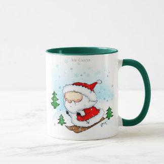 Santa Skiing mug