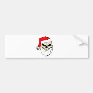 Santa Skull Bumper Sticker