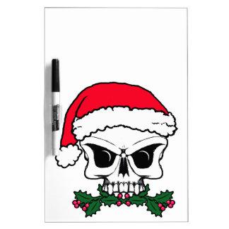 Santa skull dry erase board