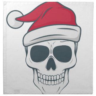 santa-skull napkin