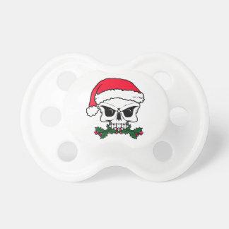 Santa skull pacifier