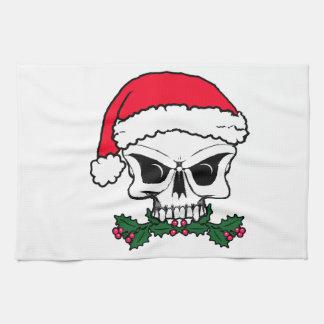Santa skull towels
