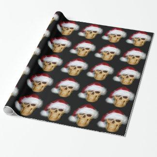 Santa Skull Wrapping Paper