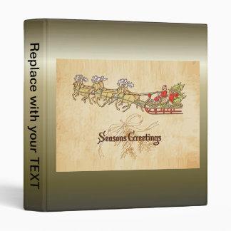 Santa Sled and Reindeer Seasons Greetings Binder
