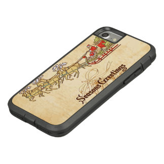Santa Sled and Reindeer Seasons Greetings Case-Mate Tough Extreme iPhone 8/7 Case