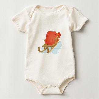 Santa Sled Baby Bodysuit