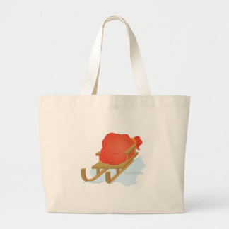 Santa Sled Large Tote Bag