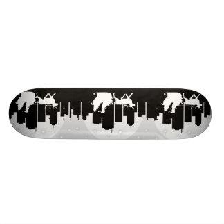 Santa Sled On City Street Skateboard Deck