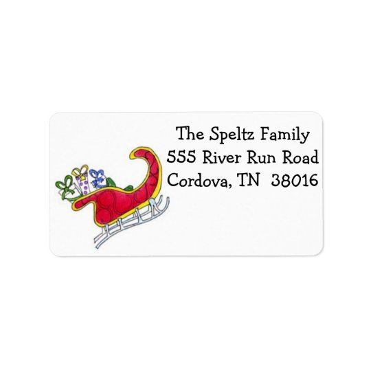 Santa Sleigh Address Labels