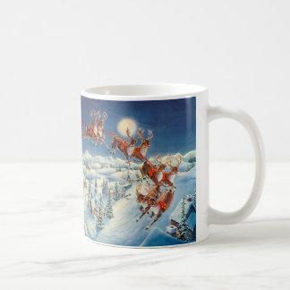 SANTA & SLEIGH by SHARON SHARPE Coffee Mug