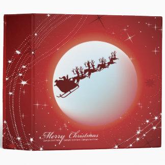 santa sleigh christmas notebook vinyl binder