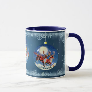 SANTA, SLEIGH & REINDEER by SHARON SHARPE Mug