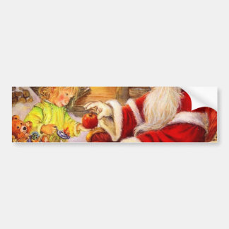 Santa sleigh - Santa claus illustration Bumper Sticker