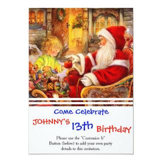Santa sleigh - Santa claus illustration Card