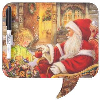 Santa sleigh - Santa claus illustration Dry Erase Board