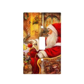 Santa sleigh - Santa claus illustration Light Switch Cover